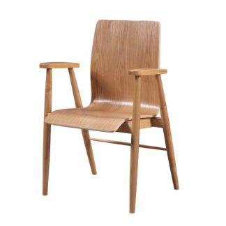 An Image of Hector Contemporary Wooden Home Office Chair In Ash