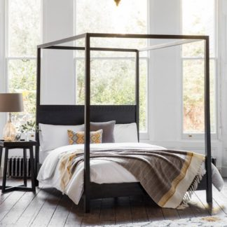 An Image of Boho Boutique King Size Bed In Matt Black Charcoal