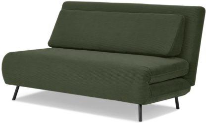 An Image of Kahlo Large Sofa Bed, Sage Corduroy Velvet