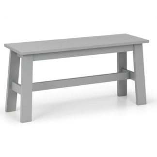 An Image of Kobe Wooden Dining Bench In Lunar Grey