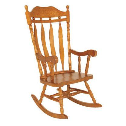 An Image of Jefferson Childs Rocker Chair In Oak