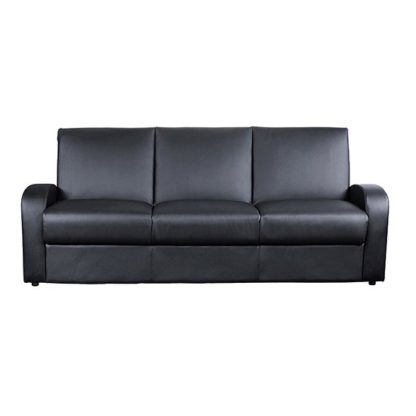 An Image of Kimberly PU Leather Sofa Bed In Black