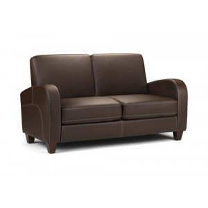 An Image of Viva Sofa Bed in Chestnut Faux Leather