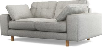 An Image of Content by Terence Conran Tobias, 2 Seater Sofa, Textured Weave Grey, Light Wood Leg