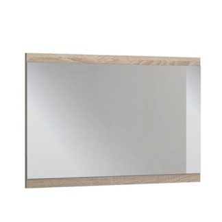 An Image of Newport Wall Bedroom Mirror In Oak Wooden Frame