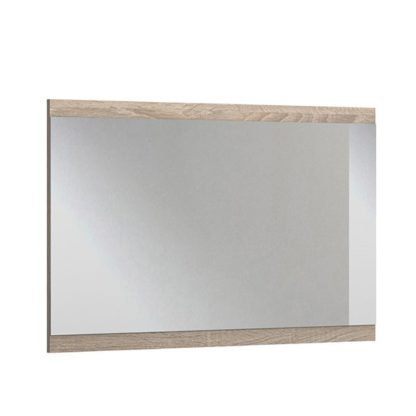 An Image of Newport Wall Bedroom Mirror In Oak Wooden Frame