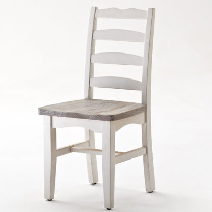 An Image of Opal Dining Chair Cottage Style In White Pine