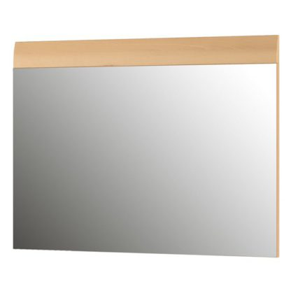 An Image of Adrian Wall Bedroom Mirror With Noble Beech Frame