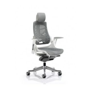 An Image of Zeta Executive Office Chair In Elastomer Grey