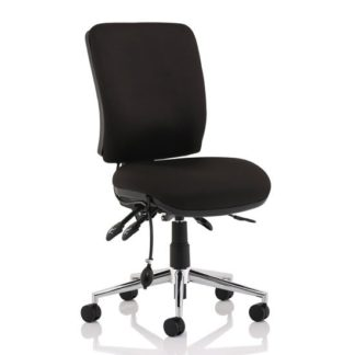 An Image of Chiro Fabric Medium Back Office Chair In Black No Arms