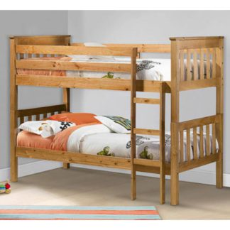 An Image of Portland Wooden Bunk Bed In Antique Pine