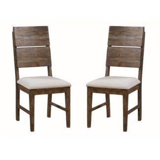 An Image of Sevilla Wooden Dining Chair In Dark Pine In A Pair