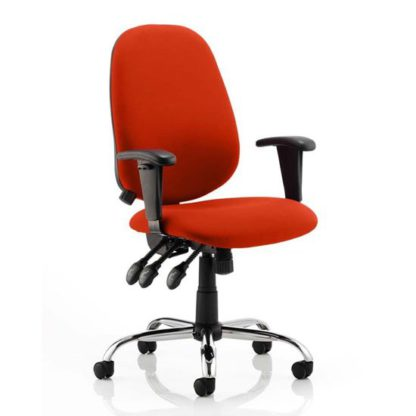 An Image of Lisbon Office Chair In Tabasco Red With Arms