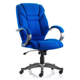 An Image of Galloway Fabric Executive Office Chair In Blue With Arms