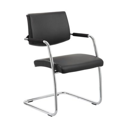 An Image of Marisa Office Chair In Black With Cantilever Frame
