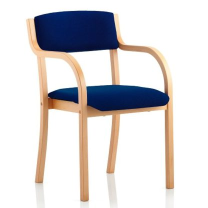 An Image of Charles Office Chair In Serene And Wooden Frame With Arms