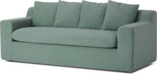 An Image of Benson Metal Action Sofa Bed, Clover Green