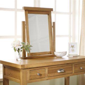 An Image of Woburn Wooden Mirror In Oak