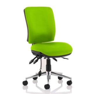 An Image of Chiro Medium Back Office Chair In Myrrh Green No Arms
