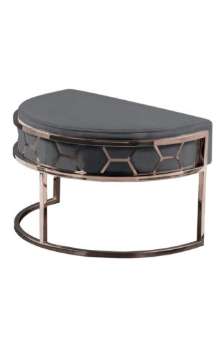 An Image of Alveare Footstool Copper -Smoke Grey