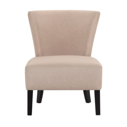 An Image of Austen Linen Lounge Chaise Chair In Sand