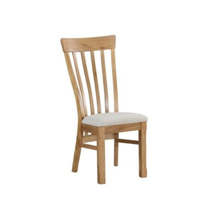 An Image of Trevino Dining Chair In Oak