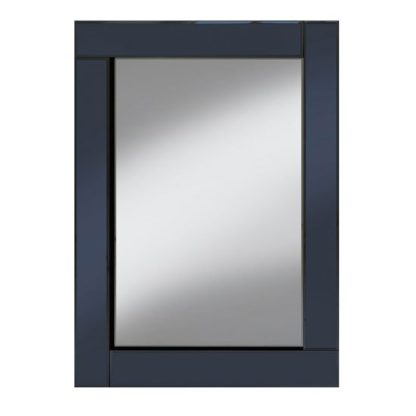 An Image of Bevel 60x80 Wall Mirror In Smoke Grey Border And Clear Mirror