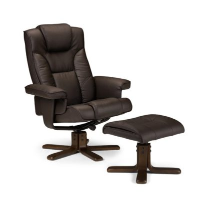 An Image of Malmo Recliner Chair With Foot Rest Stool