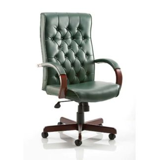 An Image of Chesterfield Green Colour Office Chair