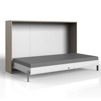 An Image of Juist Wooden Horizontal Foldaway King Size Bed In San Remo Oak