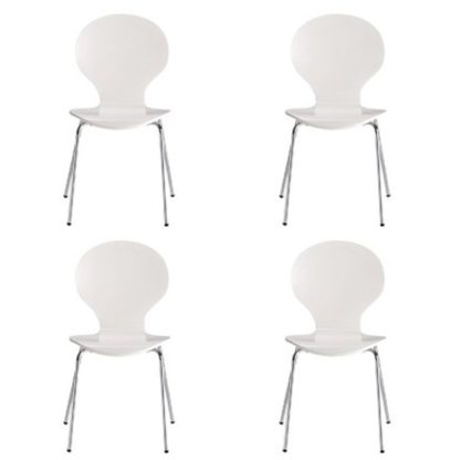 An Image of Ibiza Set Of 4 Dining Chairs In White