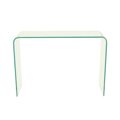 An Image of Azuria Clear Glass Finish Console Table