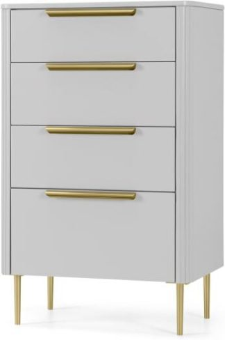 An Image of Ebro Tall Chest of Drawers, Grey