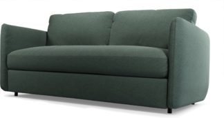 An Image of Custom MADE Fletcher 3 Seater Sofabed with Pocket Sprung Mattress, Woodland Green