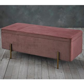 An Image of Lola Storage Ottoman In Pink