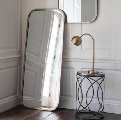 An Image of Malcolm Leaner Rectangular Floor Mirror With Metal Frame