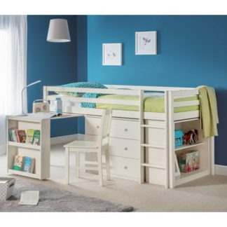 An Image of Roxy Sleepstation Bunk Bed In Stone White Lacquer