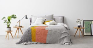 An Image of Digby 100% Cotton Knitted Bed Throw 150x200cm, Multi