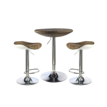 An Image of Ripley Textilene Top Bar Table With 2 Bar Stool