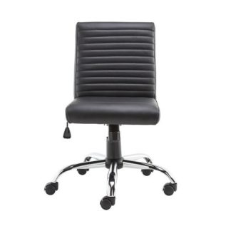 An Image of Laning Home And Office Chair In Black Faux Leather