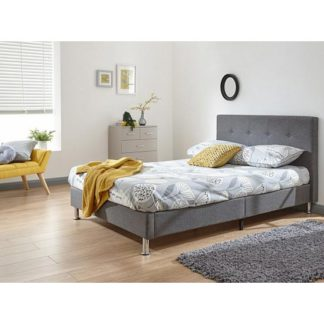 An Image of Tucson Fabric Double Bed In Grey