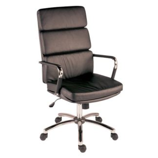 An Image of Deco Retro Eames Style Executive Office Chair In Black
