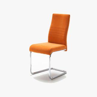 An Image of Jonas Metal Swinging Orange Dining Chair
