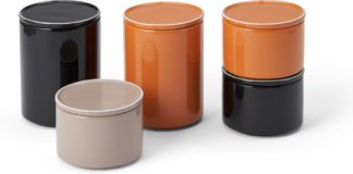 An Image of Dakari Set of 5 Ceramic Lidded Storage Jars, Multi