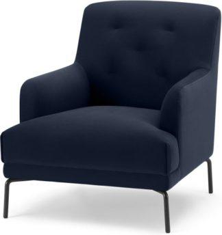 An Image of Attwood Armchair, Ink Blue Velvet
