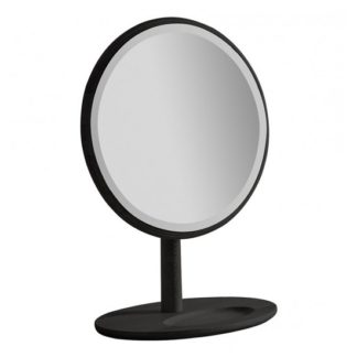 An Image of Wycombe Round Dressing Mirror In Black