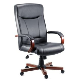 An Image of Kingston Mahogany Executive Leather Chair