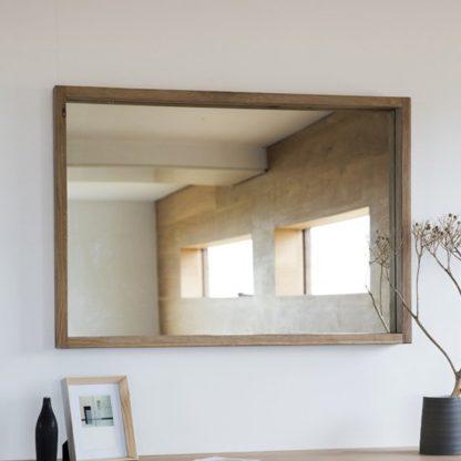 An Image of Kielder Bedroom Mirror With Wooden Frame In Oak