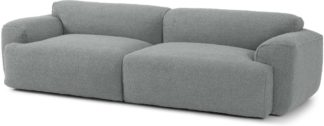 An Image of Avalon 3 Seater Sofa, Steel Boucle