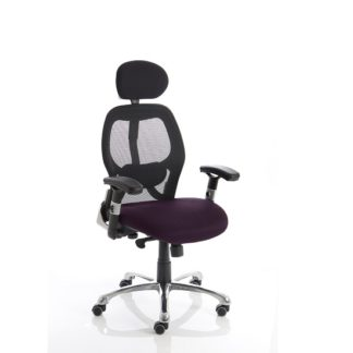 An Image of Coleen Home Office Chair In Purple With Castors